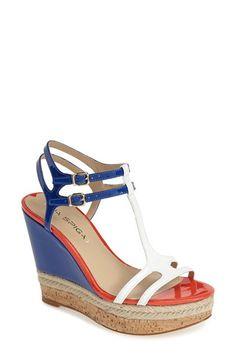 Women's Via Spiga 'Meza' Leather Dual Ankle Strap Platform Wedge