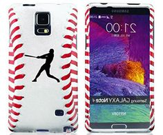 "myLife Bleach White + Scarlet Red Baseball Batter Silhouette {Sporty, Athletic, Awesome} 2 Piece Snap-On Rubberized Protective Faceplate Case for the Samsung Galaxy Note 4 ""All Ports Accessible"" myLife Brand Products http://www.amazon.com/dp/B00U4DG99O/ref=cm_sw_r_pi_dp_fFyhvb0Q9X2ES"