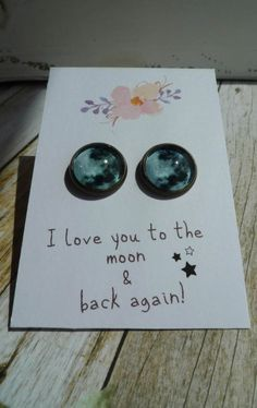 Items similar to Vintage Style 'I Love you to the Moon and Back Again' Bronze Post Earrings on Etsy I Love You, My Love, Style Me, Vintage Fashion, Bronze, Jewellery, Unique Jewelry, Frame, Handmade Gifts