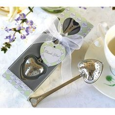 Heart Tea Infuser (Set of 12) $30 cute idea for tea party favors!