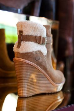 Ugg wedges. Not loving the look but probably so comfortable!