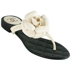 Chanel Camellia Thong Sandals - Size 6 / 36 | Chanel Shoes from Bag Borrow or Steal™