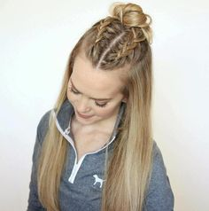 Box Braids Hairstyles, Super Easy Hairstyles, Prom Hairstyles For Short Hair, Braids For Long Hair, Cool Hairstyles, Sport Hairstyles, Toddler Hairstyles, Hairstyles Pictures, Hair Updo