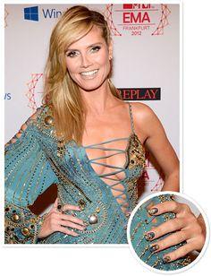 Heidi Klum at the 2012 EMAs #beauty #nails