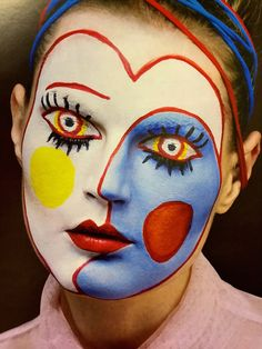 The ancient Egyptians used eye shadow and lipstick to prevent the evil eye from entering their eyes or mouths. This amazing face art is by Isamaya Ffrench, make-up artiste extraordinaire. From the Sunday Times STYLE mag 1 March Maquillage Halloween, Halloween Face Makeup, Art Visage, Theatrical Makeup, Prom Makeup, Teen Makeup, Fantasy Makeup, Gothic Makeup, Costume Makeup