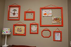 Chicken wire art frames