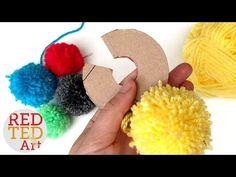 How to make a Pom Pom maker Tutorial (Craft Basics - Yarn Pom Pom) - YouTube