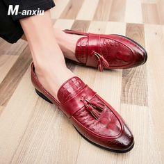 Herren Alligator Leder Oxford Schuhe Casual Mokassins Slipper Business Gr.38-46