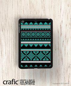 Mint Aztec iPad Mini Case