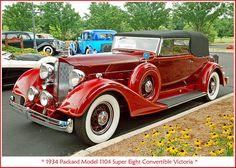 1934 Packard Model 1108 Super 8 Convertible Victoria.