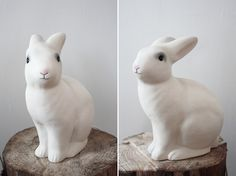 Rabbit lamp from www.bodieandfou.com  Photo: Deas Og Mia #bunnyonastump