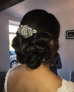 BRIDAL HAIR UPDO WEDDING HAIR IDEAS INSPO BRIDE CURLS UP ROLLS PRETTY