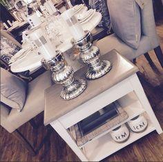 #elegance #interior #chrome #candels #beige #white #wood #pier3wohnideen