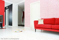 Livingroom in red Decor Interior Design, Oversized Mirror, Living Room, Red, Furniture, Decoration, Photography, Home Decor, Homemade Home Decor