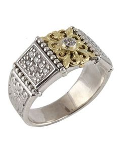 Asteri+Floral+Pave+White+Diamond+Band+Ring,+Size+7+by+Konstantino+at+Neiman+Marcus+Last+Call.