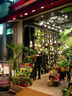Really love the black shelving - Florist shop by Suviko