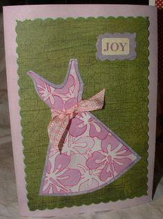 dress tarjeta, dress templat, card sentiment, paper dresses, paper creativ, dress card, idea card, celery, cards