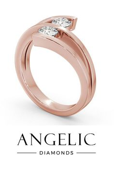 Wedding rings don't have to be boring. This strikingly modern and wonderfully unique rose gold wedding band is proof!