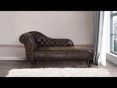 Schäslong V konstläder brun NIMES ✓ Beliani. Sofa, Couch, Brown, Furniture, Vintage, Home Decor, Chaise Longue, Settee, Settee