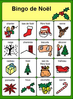 Christmas Bingo, Christmas Activities For Kids, French Teacher, Teaching French, French Kids, French Education, Core French, French Christmas, French Classroom