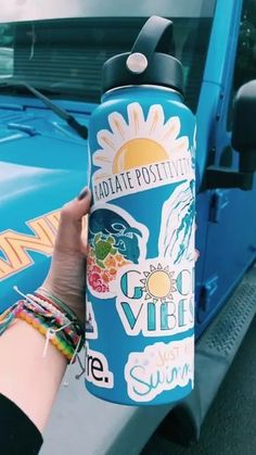 Stickers for Water Bottles Big Cute Aesthetic Trendy Stickers for Teens Kids Girls and Boys, Perfect for Hydro Flask Laptop Notebook Phone Car Skateboard Summer Aesthetic, Blue Aesthetic, Summer Vibes, Hydro Flask Water Bottle, Cute Water Bottles, Polaroid, Bottle Art, Cute Stickers, Preppy Stickers