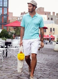S fashion style giyim summer outfits men, mens fashion, fashion. Boat Shoes Outfit, Summer Outfits Men, Men Summer, Summer 2014, Spring Summer, Casual Summer, Polo Shirt White, White Shorts, Outfits Hombre