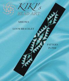 Bead loom pattern -  Arrows - ethnic inspired LOOM bracelet cuff pattern in PDF - instant download by KikisBeadArts on Etsy https://www.etsy.com/listing/290421135/bead-loom-pattern-arrows-ethnic-inspired