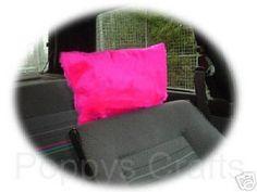 Barbie Pink fluffy faux fur car headrest covers 1 pair cute girly girl car accessories