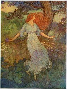 Enchanting Madrigal. Eleanor Abbot Illustration. VINTAGE Digital Illustration. Vintage Digital Download. Vintage Digital Fairy Tale PRINT