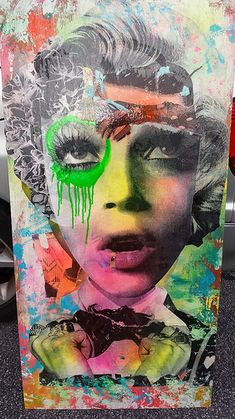 Brooklyn Street Artist DAIN combines old Hollywood glam and a gritty graffiti style to produces works that are both evocative and beautiful in their composition. 3d Street Art, Street Art Graffiti, Street Artists, Graffiti Artists, Banksy, Ikks Kids, Atelier D Art, Illustration, Art Plastique