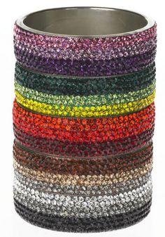 Shaded Crystal Bangles by SAACHI