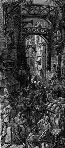 East End Warehouses   Gustave Doré