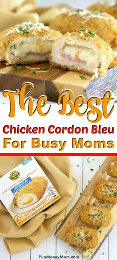 This post has been sponsored by Barber Foods. All thoughts and opinions are my own. You don't have to be a chef to make a Chicken Cordon Bleu that tastes like it's from scratch! Chicken Cordon Blue, Blue Chicken, Barber Foods, Dinners To Make, Frozen Chicken, Cordon Bleu, Air Fryer Recipes, Eating Plans, Freezer Meals