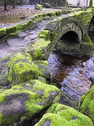 Packhorse bridge at Wycoller, England