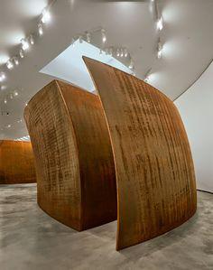 SCULPTOR RICHARD SERRA         INSIDE OUT 2013   Weatherproof Steel   Dimensions: 401.3 × 2494.3 × 1225.6 cm   © Richard Serra. Photo...
