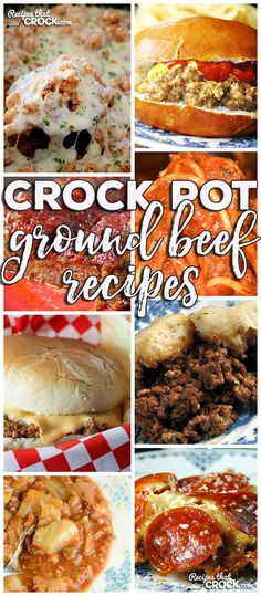 This week for our Friday Favorites we have some yummy Crock Pot Ground Beef Recipes like Crock Pot Crustless Pizza, Spaghetti with Homemade Meatballs, Crock Pot Unstuffed Cabbage Soup, Crock Pot Hambu (Cabbage Recipes Hamburger) Slow Cooker Ground Beef, Crock Pot Slow Cooker, Crock Pot Cooking, Slow Cooker Recipes, Ground Meat, Minced Beef Recipes, Ground Beef Recipes Easy, Beef Recipes For Dinner, Chicken Recipes