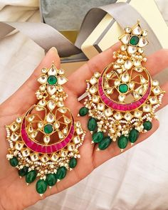 Fabric Jewelry Diy and Jewelry Rings Silver. Indian Jewelry Earrings, Indian Wedding Jewelry, Bridal Jewelry, Gold Jewelry, Beaded Jewelry, Luxury Jewelry, Jewelery, Pakistani Jewelry, India Jewelry