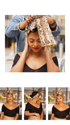 Afro Hair Wrap, African Hair Wrap, Hair Wrap Scarf, Hair Scarf Styles, African Head Wraps, Curly Hair Styles, African Hairstyles, Headband Hairstyles, Black Women Hairstyles