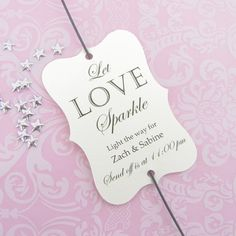 Lovely sparkler tags for your wedding sparkler send off! The listing is for a set of 30 tags in the color of your choice. You can choose your