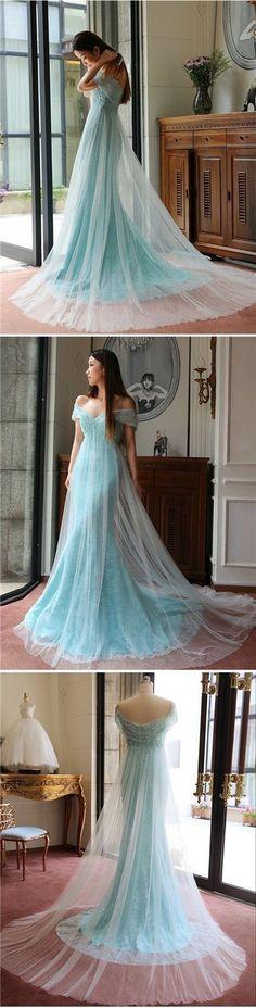 Sexy Prom Dresses Trumpet/Mermaid Off-the-shoulder Prom Dress/Evening Dress JKL085