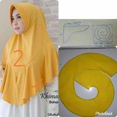 Turban Hijab, Hijab Niqab, Hijab Chic, Diy Fashion Scarf, Hijab Fashion, Lace Knitting Patterns, Dress Sewing Patterns, Dress Muslim Modern, Video Hijab