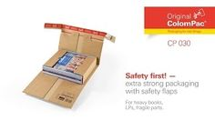 Extra strong #packaging CP 030 with safety flaps by #ColomPac®. • #Dinkhauser Kartonagen Vertriebs GmbH, #Selbstklebeverschluss, #Aufreißfaden, #Versandverpackung, #Wellpappe, #Packet, #Bücher, #LPs, #CD, #Ersatzteile Lps, Packaging, The Originals, Aftermarket Parts, Wrapping