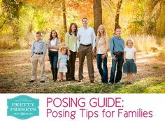 Free Posing Guide: Posing Tips for Families | Pretty Presets for Lightroom