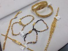 The baby collection,bracelets and bangles for boys and girls #22ktgold #babyjewelry #bracelets #bangles #blackbeadsbracelets