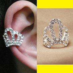 Princess Tiara Rhinestone Single Ear Cuff | LilyFair Jewelry, $9.99!