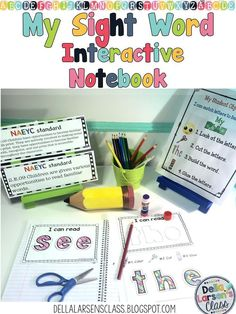 Sight word interactive notebook perfect for increasing reading fluency. Great for kindergarten or  for review with first grade reading groups. A great addition to RTI or speciel ed lessons.