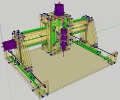 How to Make a Three Axis CNC Machine (Cheaply and Easily): 12 Steps (with Pictures) Cnc Router Plans, Diy Cnc Router, Wood Router, Woodworking Plans, Woodworking Shop, Cnc Milling Machine, Router Machine, Xy Plotter, Homemade Cnc