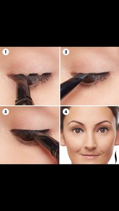 Try this easy connect the dots technique to get a smooth straight & sexy line with your liquid eyeliner. 1. Create three dots along your lash line and 2. follow behind with your angle brush. This will have you looking fab in a flash!!