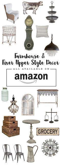 farmhouse style finds from Amazon on the cheap. great roundup of fixer upper style and farmhouse style items!