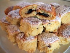 BUCHTIČKY - recept po babičce French Toast, Food And Drink, Treats, Breakfast, Sweet, Recipes, Sweet Like Candy, Morning Coffee, Candy